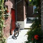 Hof mit Fahrrad